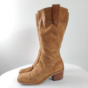 Nine West western vibe crushed suede boots